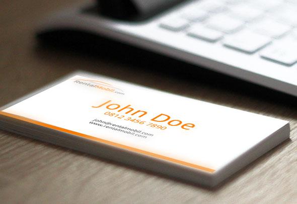 Rental Mobil Business Card Design