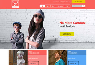 SSquare Kids Clothing E-commerce Website