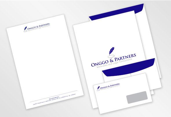 onggo & partner envelopes letter head